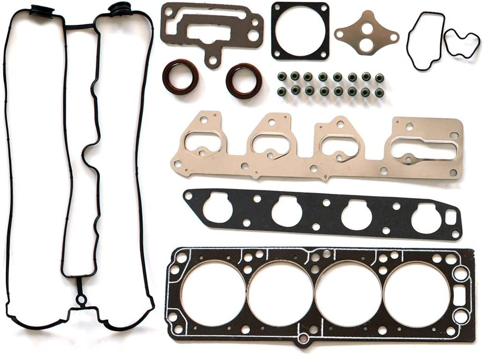 SCITOO Timing Belt Water Pump Kit and Head Gasket Sets Fits 1998-2003 Daewoo Leganza Isuzu Amigo Rodeo Rodeo Sport 2.2L 2180CC L4 DOHC 16V Eng Code X22SE