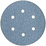 Norton 3X High Performance Hook and Sand Paper Discs with 6 Hole, Ceramic Alumina, 6'' Diameter, Grit P150 Fine (Pack of 10)