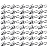 Loghot 40 Pack Extra Hard Thickening Stainless Steel Curtain Clips Hooks for Curtain Photos Home Decoration