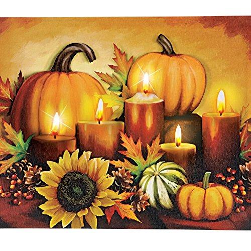 LED Autumn Harvest Canvas Wall Art - Thanksgiving wall art