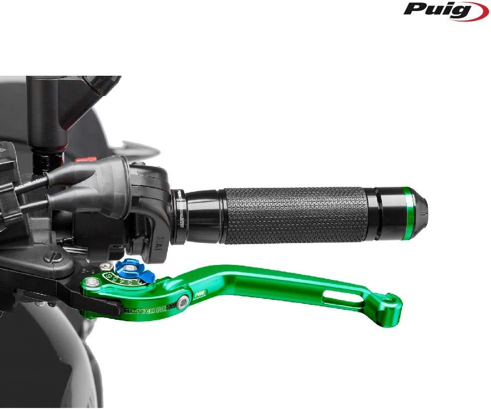 Green Puig 260VA 2.0 Foldable Clutch Lever with Blue Selector