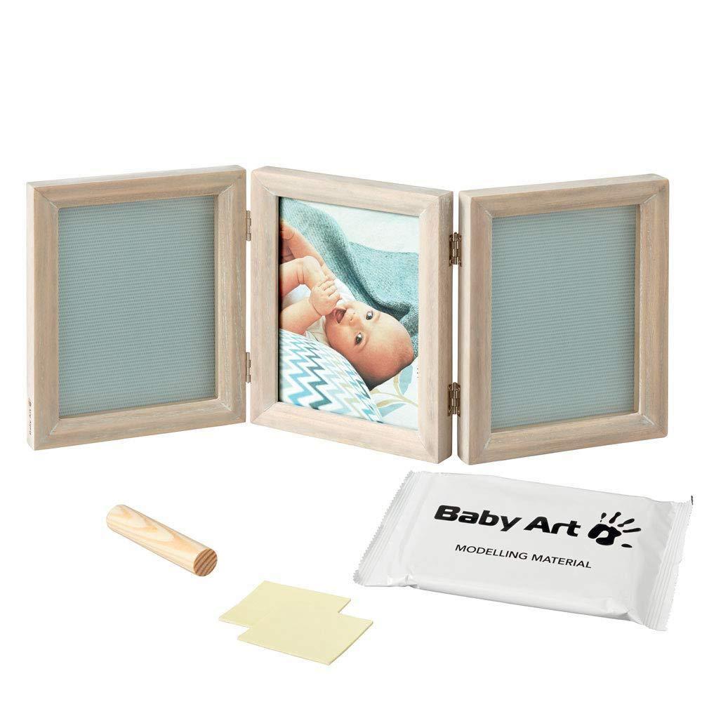 Baby Art My Baby Touch Carolyn Gavin Blanco kit de huellas para Calco manos y pies del reci/én nacido Edici/ón limitada Marco de fotos 2 cuerpos con fondo floral