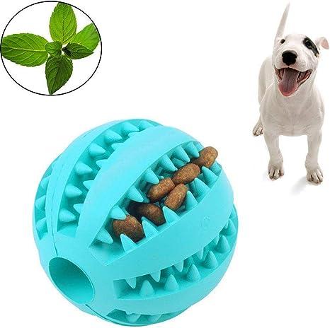 Juguete de bola de goma para masticar perros,alimentador lento no ...