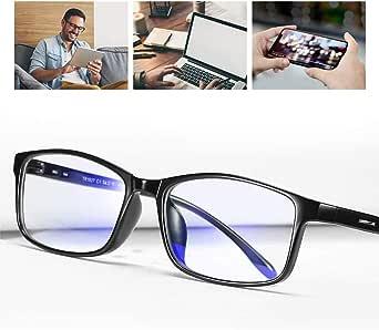SCOBUTY Gafas Luz Azul,Gafas de Ordenador,Gafas con Filtro de luz Azul,Gafas de Pantalla,Antiluz Azul,Anti UV, Gafas para Ordenador Gaming PC para Hombre Mujer