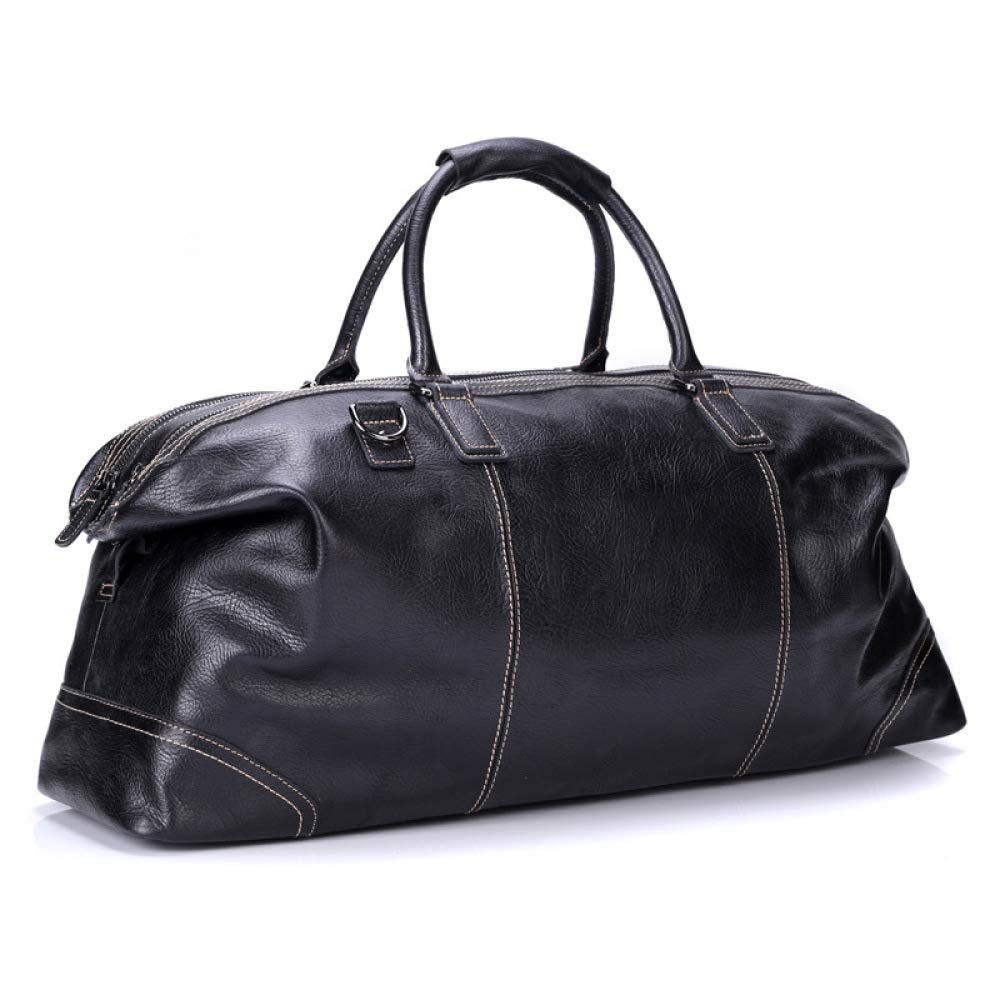 HOQTUM 革トラベル バッグ メンズ ポータブル大容量ビジネス旅行バッグ荷物一晩週末多機能コンピューター バッグ スーツケース   B07KC6D6RD