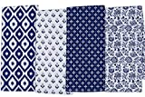 DII COSD35140 Cotton Dish, Decorative Oversized Towels, Perfect for Every Day Home Kitchen, Holidays and Housewarming Gifts, 18x28, Dishtowels - Set of 4