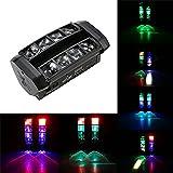 Lixada DMX 512 Lumiere de scène 80W RGBW Changement de couleur 13/19 Chaînes sonore Activé Auto Exécution Lampe pour Disco KTV Club Party soirée