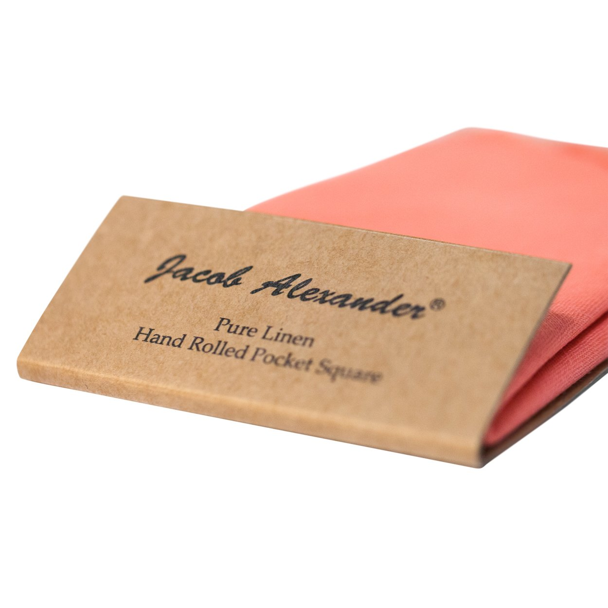 Jacob Alexander Linen Handrolled 15 x 15 Pocket Square Hanky White