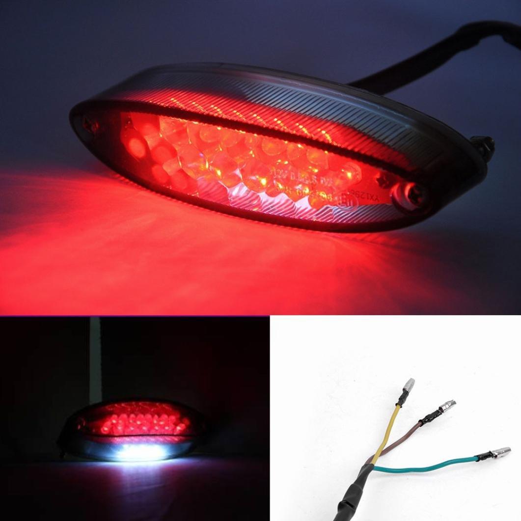 Welcomeuni Motorcycle Lights Brake Light Image 1