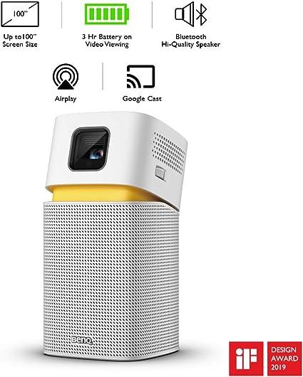BenQ GV1 – Proyector portátil inalámbrico con Altavoz Bluetooth ...