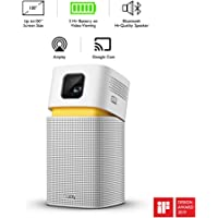 BenQ GV1 Mini Portable LED Projector for E22Wireless Entertainment with Bluetooth Speaker, USB-C, HDMI to USB-C Adaptor, Wi-Fi, Aptoide TV App, Auto Keystone, Adjustable Hinge, 3-Hour Battery Life