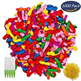 Water Balloons Refill Kits 1000 Pack Colorful Latex Water Fight Games Sports Summer Splash Fun for Kids & Adults