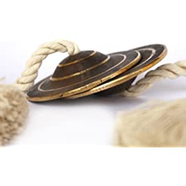 De Kulture Works™ Pure Kansa Manjeera Indian Cymbal Clapper Musical Instrument Bell 3X3 DH (Inches)