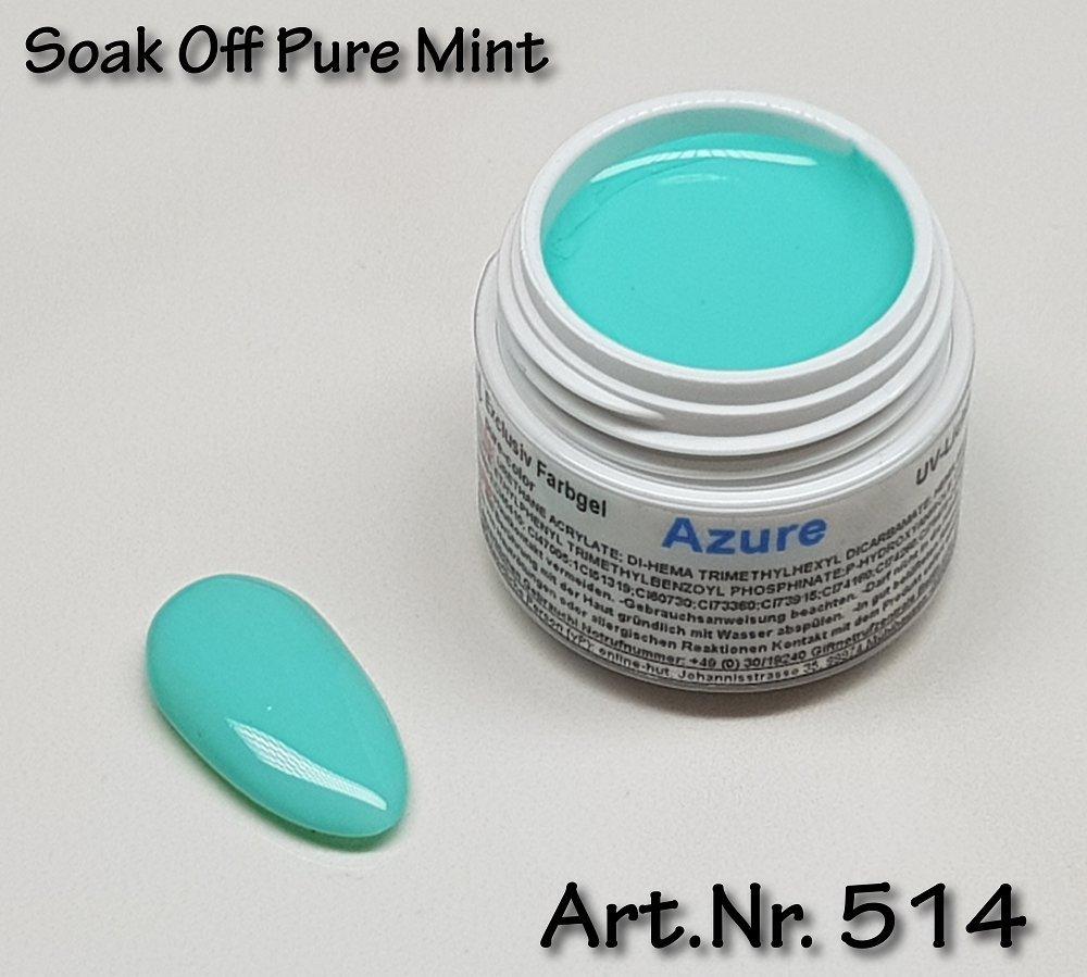 5ml UV Exclusiv Soak Off Farbgel Pure Mint