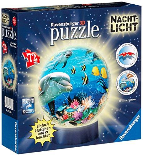 Ravensburger 12143 - Unterwasser - Nachtlicht puzzleball, 72 Teile
