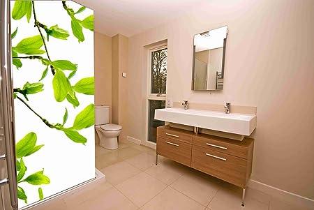 Vinilo para Mamparas baños Rama de Almendro |Varias Medidas 185x70cm | Adhesivo Resistente y de Facil Aplicación | Pegatina Adhesiva Decorativa de Diseño Elegante|: Amazon.es: Hogar