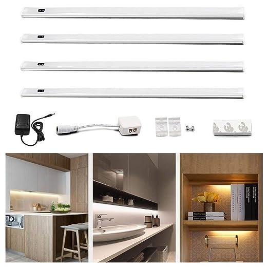 Lustaled 30CM 450 Lúmenes 24W 12V LED Luz Tira Kit con Sensor de Movimiento  de Mano para Iluminación de Muebles, Cocina, Exhibición de la joyería, ...