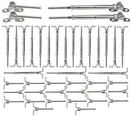 Amazon.com: Muzata 20Pack 316 Kit de rieles de acero ...