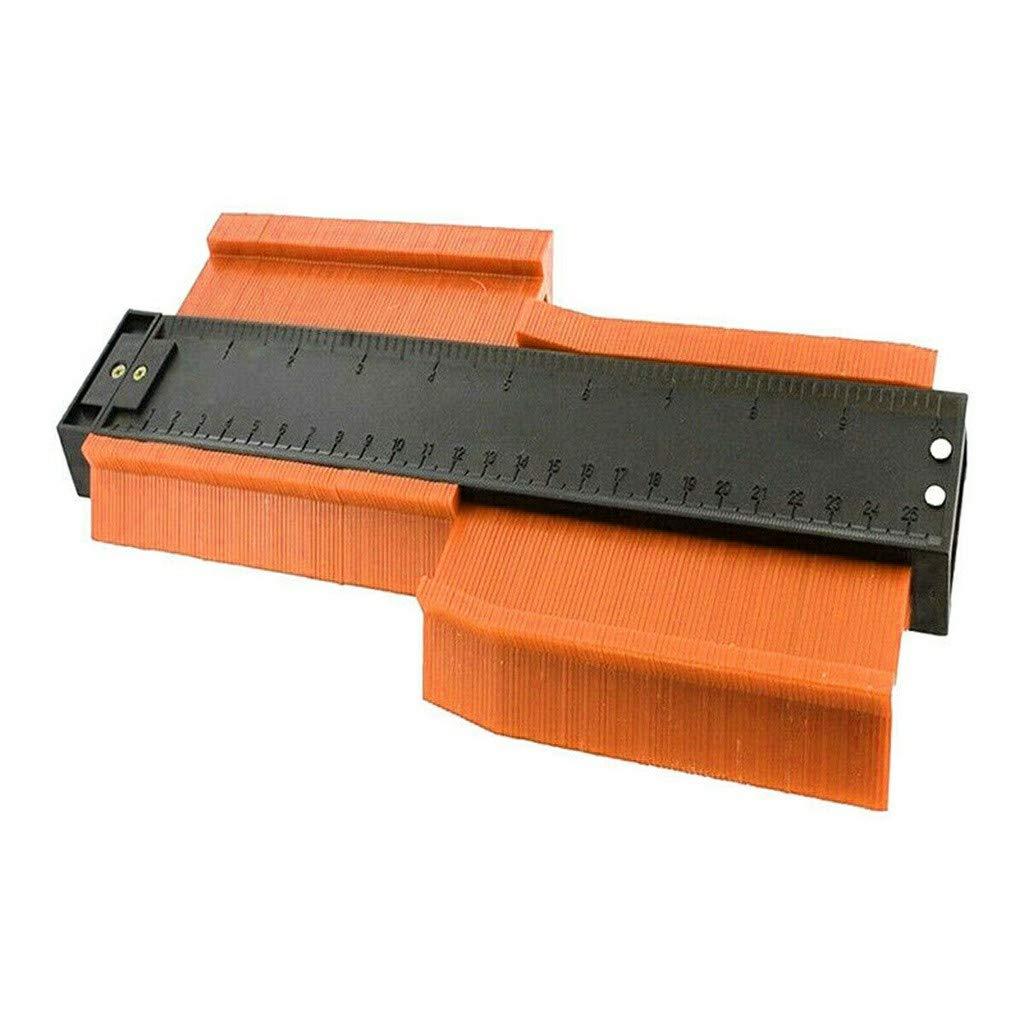 Contour Duplication Gauge SUJING Plastic Contour Gauge Plastic Contour Gauge Duplicator Circular Frame Profile Gauge Tool red