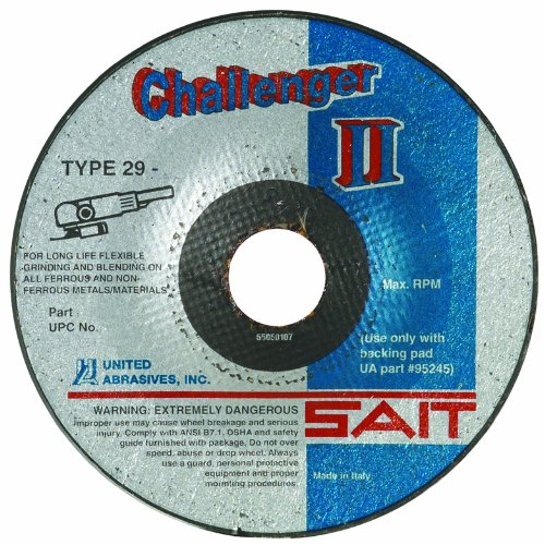 United Abrasives/SAIT 27502 CH II 4-1/2 by 1/8 by 7/8 100X Flexible Type 29 Grinding/Blending Wheel, (Type 29 Flexible Grinding Wheel)