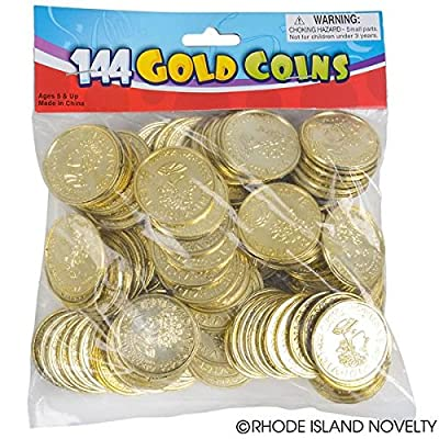 1 Bag of 144 Plastic Gold Coins from Rhode Island