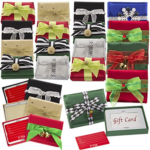 For Keeps 20 Pack Small Boxes For Giving Gift Cards Holders Lids Bow Christmas Birthday Wedding