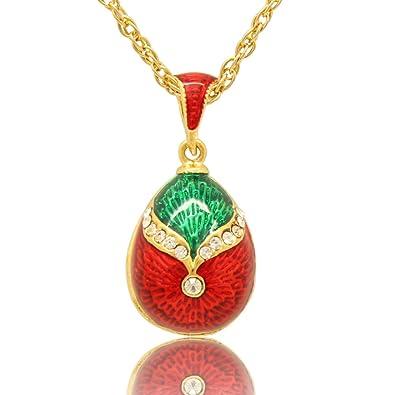 Women jewellery necklace teardrop design enameled russian faberg women jewellery necklace teardrop design enameled russian faberg egg pendants girls gifts red amazon jewellery aloadofball Gallery
