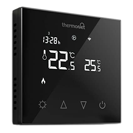 Thermotouch 5226 W programable termostato Cristal Wi-Fi, Negro, ...