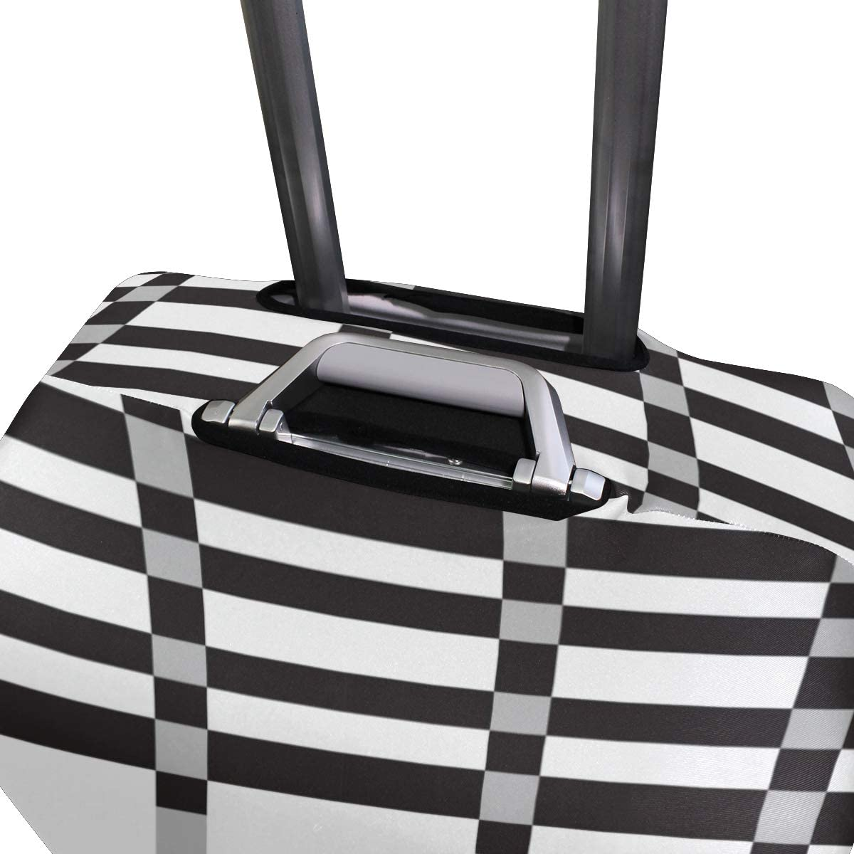 GIOVANIOR Black White Plaid Checked Luggage Cover Suitcase Protector Carry On Covers
