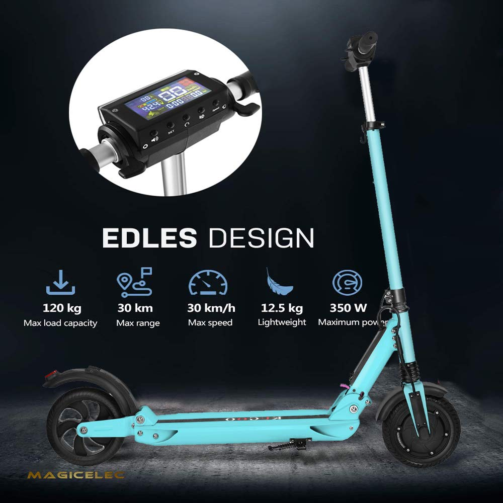 Patinete Eléctricoplegable Scooter eléctrico,350 W E-Scooter, Ruedas antirreventón Tubeless de 8,5