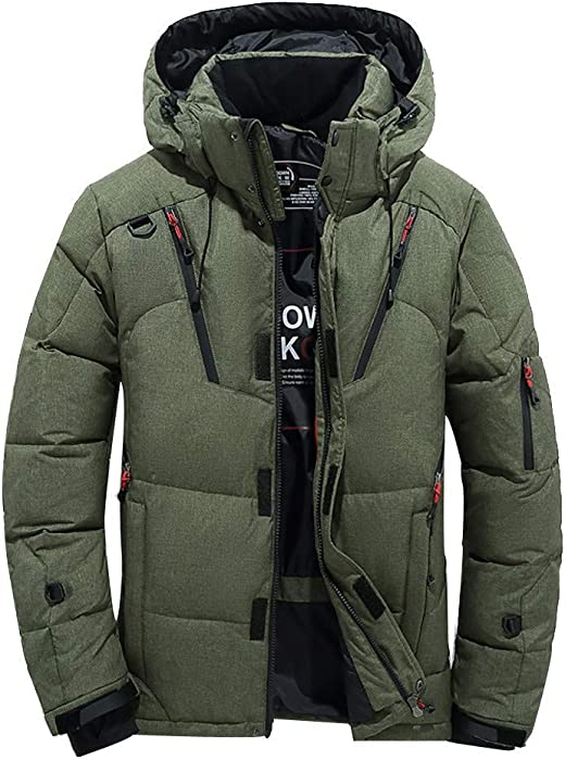 Chaqueta blusa superior gruesa de pato para hombre chaqueta de abrigo de invierno con capucha de hombre BaZhaHei Invierno Abrigo Casual Sudadera con Capucha ...