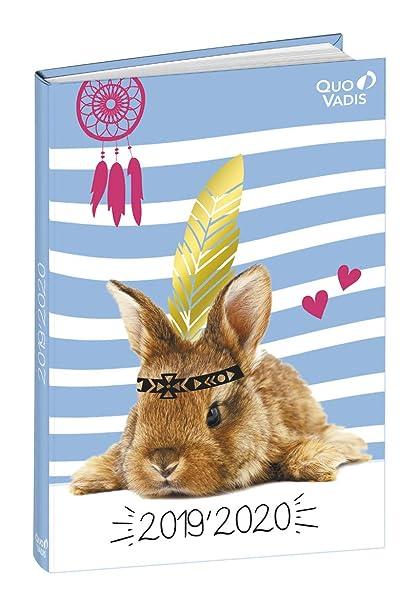 Agenda Escolar 1 Día/Página 2019-2020 Amigos, 12x17cm, diseño Conejo