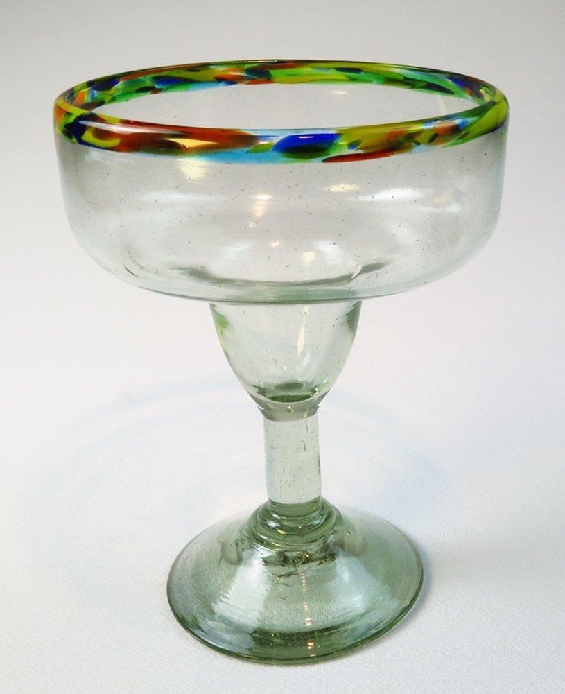 Mexican Margarita Glass Jumbo size XXL Confetti Rim Extra large