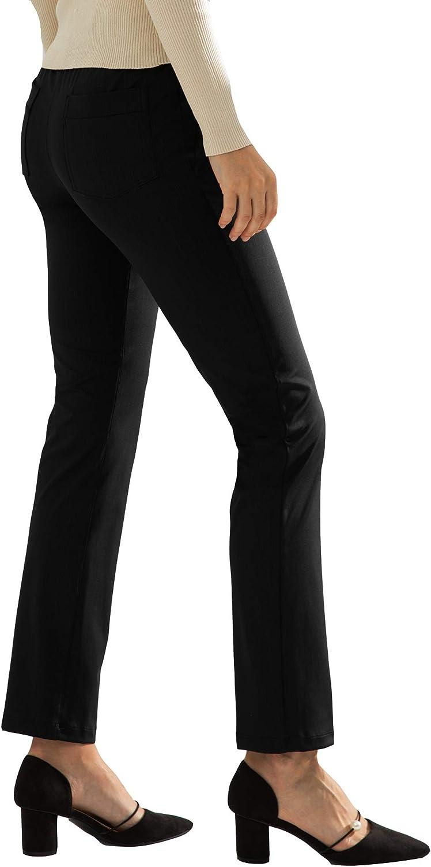 AJISAI Women's Stretch Yoga Dress Pants Straight Leg Work Pants with Pockets Bootcut