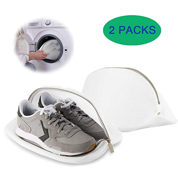Saco Lavadora para Zapatos, Premium de Malla de Lavandería para Zapatos / Zapatos de deporte, Bolsa para Colada Reutilizable Lavado de Malla