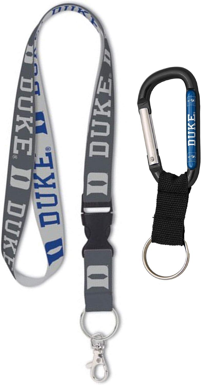 Duke University Blue Devils Premium Lanyard and Carabiner Key Ring Gift Set