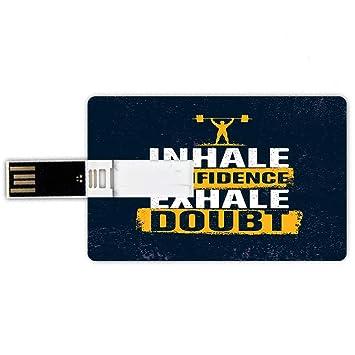 32GB Forma de tarjeta de crédito de unidades flash USB Inhala ...