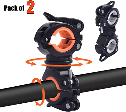 360° Mount Clamp Rotation Bike Torch Holder Bicycle Headlight Stand Adjustable