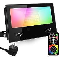 RGB LED-spot, RGBW-kleurverandering komt overeen met 400 W, DIY-stroboscoopmodus, 120 kleuren, timer, RGB, 2700 K…