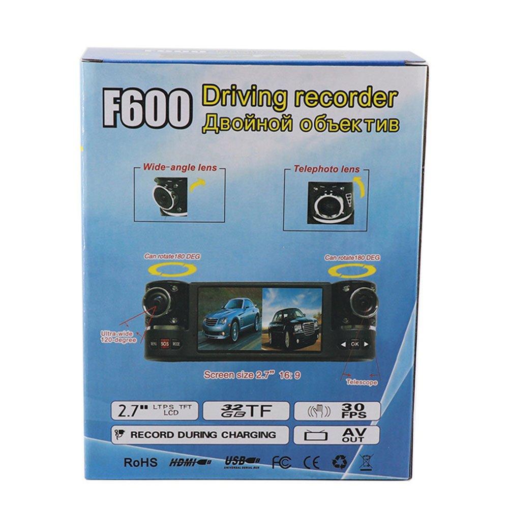Zantec® - Grabadora de datos automática HD con doble lente giratoria para cámara de vehículos, monitor de aparcamiento inteligente: Amazon.es: Coche y moto