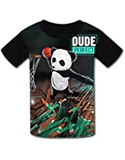 QIANBAIHUI Kids Youth Kung-fu-Pan-da 3D Printed Short Sleeve T Shirt Tee