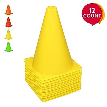 9908105c1 REEHUT 7.5 Inch Plastic Sport Training Traffic Cone For Kids Home GYM Football  Training Soccer (