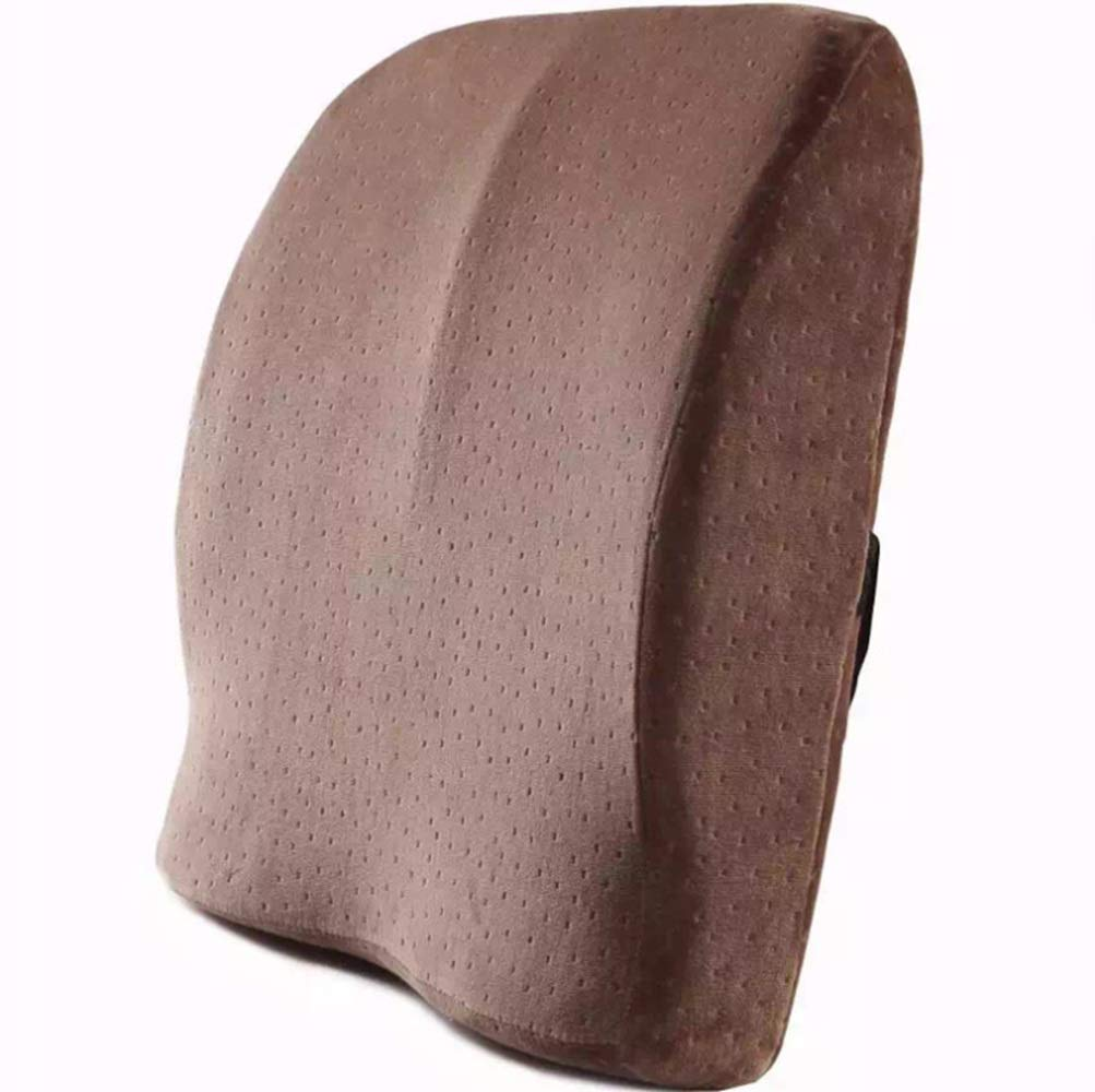 ノウ建材貿易 ウエストクッションスローリバウンドメモリーコットンウエストクッションオフィスカーピロー (色 : ブラウン)  ブラウン B07RJDM128