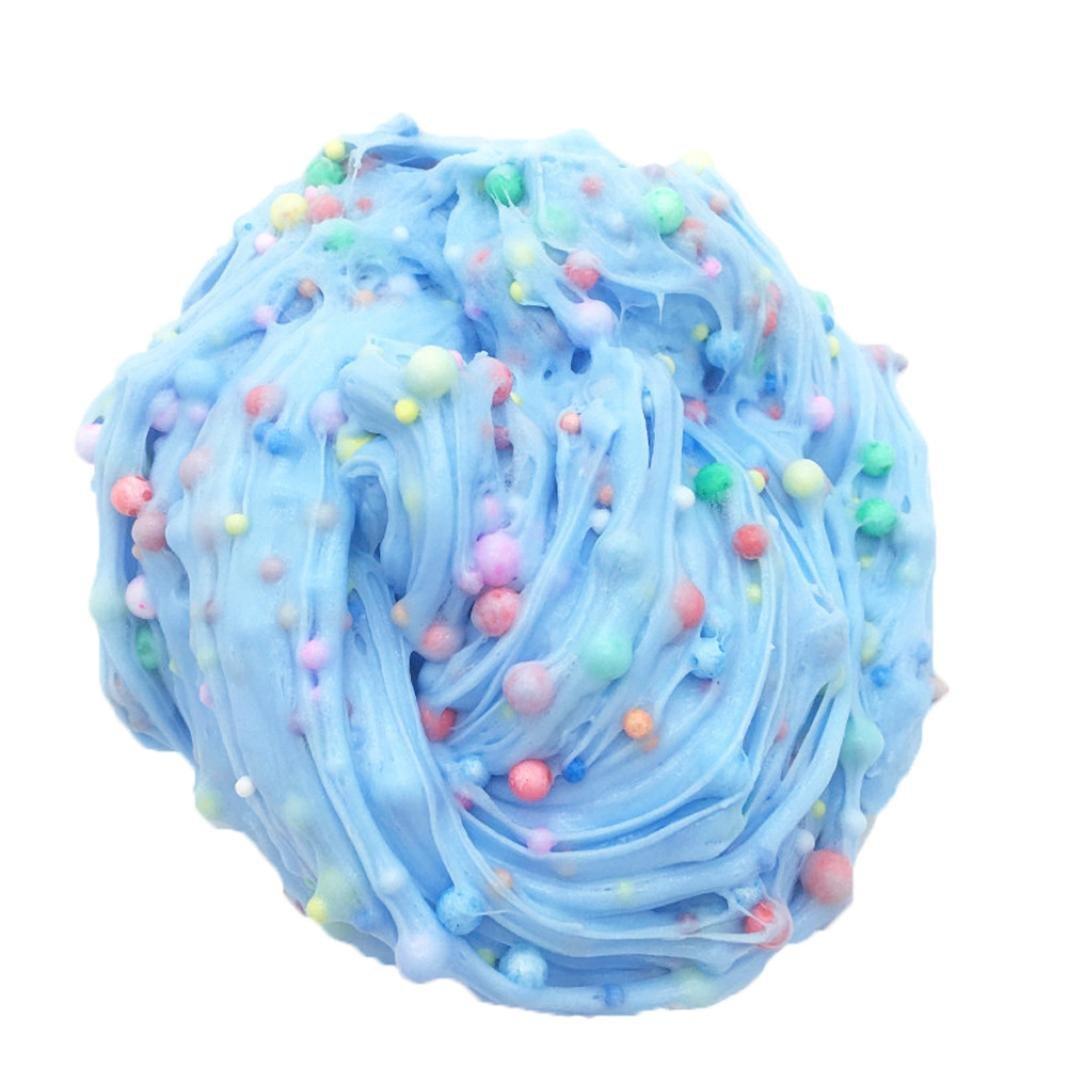 vicgrey 2018 Ultimi Ice Cream Slime Cotton Blue Puff Gel Ice Cream Mixing Clay Mud Putty Profumato stress per bambini Crystal Clay Toys