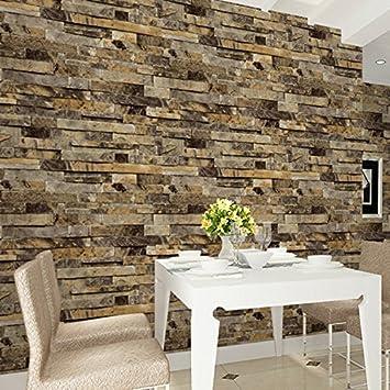 3d Brique De Pierre Papier Peint Bricolage Papier Peint Wall Decor