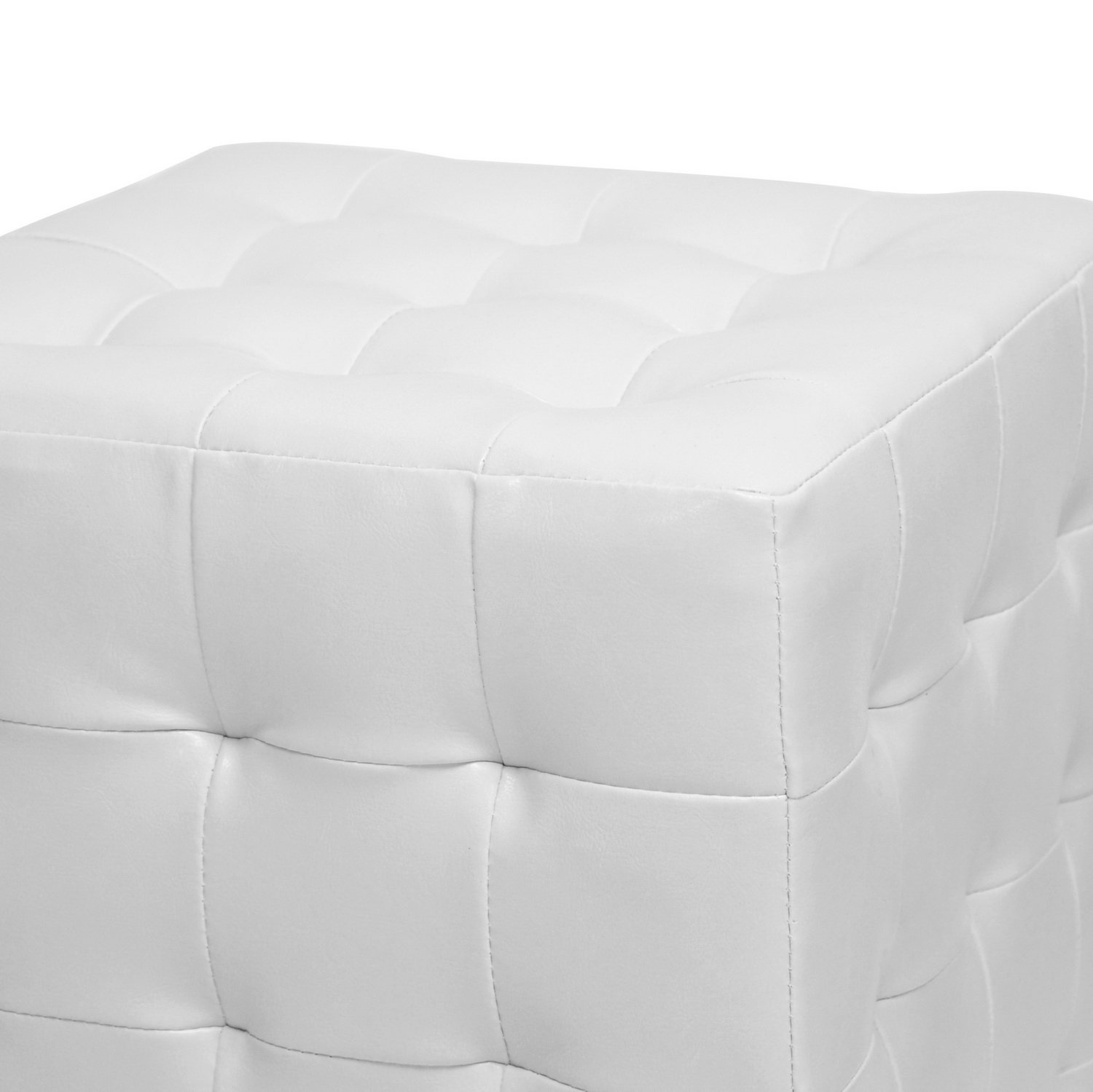 Amazon Baxton Studio Siskal Modern Cube Ottoman White Set