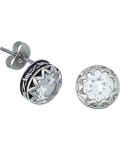 Amazon Com Montana Silversmiths Womens Cz Barbwire Post Earring