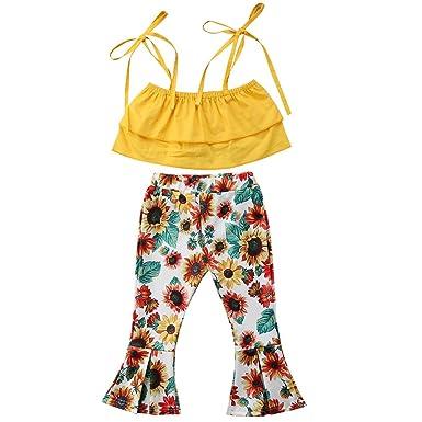 78ea140033 Newborn Baby Girl Sunflower Tube Top+Lace Pompom Layered Tulle Short  Pants+Headband (
