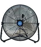 Iliving ILG8F20 Multi-Purpose High Velocity Floor Fan Wall Fan, 20'', Black