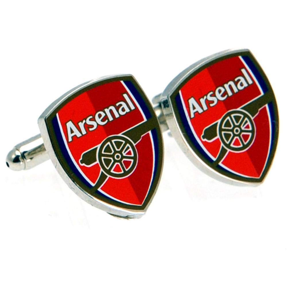 ARSENAL FC Official Players Cufflinks Red Club Crest